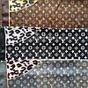 Платок Louis Vuitton шелк, серый / леопард, фото 3