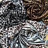Платок Louis Vuitton шелк, серый / леопард, фото 4