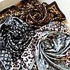 Платок Louis Vuitton шелк, серый / леопард, фото 6