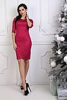 Женское нарядное платье гипюр