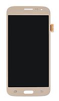 Дисплей (модуль) + тачскрин (сенсор) для Samsung Galaxy J2 2016 J210   J210F (золотой цвет)