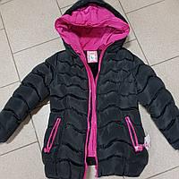 Зимняя  куртка с двумя капюшонами для девочки 122-134