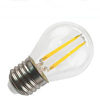 Filament LED лампа BIOM 4W E27 G45 (шар) 4500К