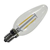 Filament LED лампа BIOM 4W E14 C37 (свеча) 3000К