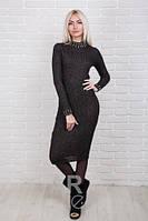 Облегающее женское платье трикотаж-рубчик р.44-48 AR84040-3