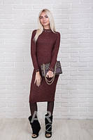 Облегающее женское платье трикотаж-рубчик р.44-48 AR84040-1