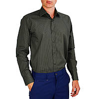 Темно-серая в точку мужская рубашка классическая PALMEN, фото 1