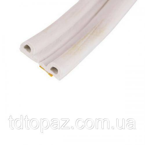 Уплотнитель для окон и дверей Sanok Р-тип 9*5,5 мм (белый) 100м