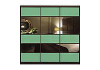 Шкаф купе с фасадами Цветные стекла/Тонированные зеркала трехдверный Классик
