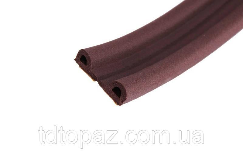 Уплотнитель для дверей и окон Sanok Р-тип 9*5,5 мм (коричневый)