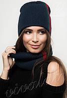 Комплект женская шапка и шарф хомут ГУЧЧИ