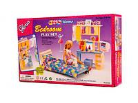 Игрушечная мебель для куклы Барби gloria 21014 Спальный набор с трюмо