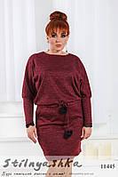 Модное утепленное платье для полных марсал, фото 1