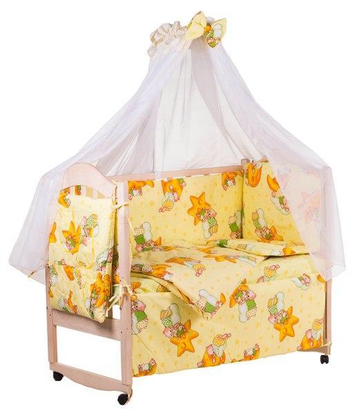 Детская постель Qvatro Gold RG-08 рисунок желтая (мишки спят, месяц)