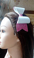 """Заколка-автомат для волос """"Сверкающий бант"""""""
