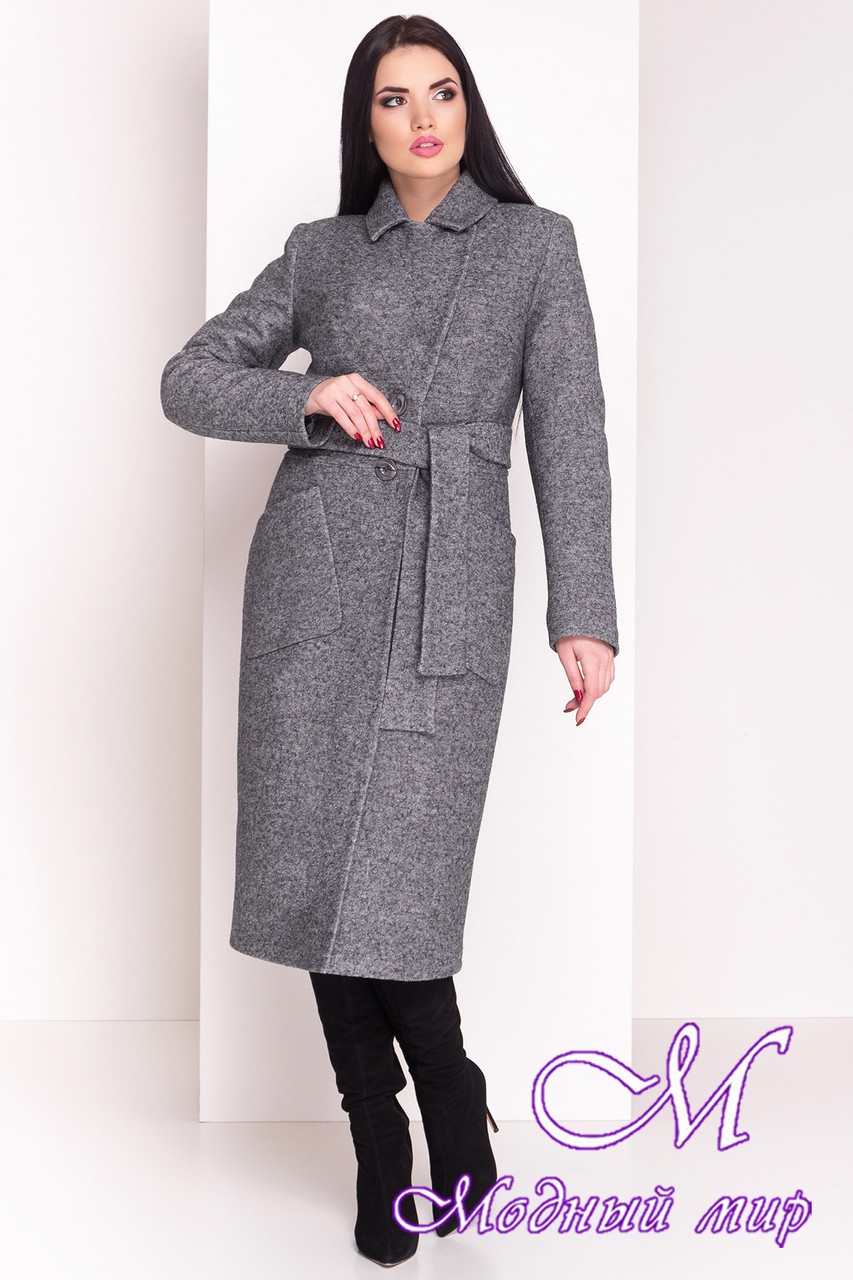 Длинное женское зимнее пальто (р. S, М, L) арт. Габриэлла 4363 - 21011