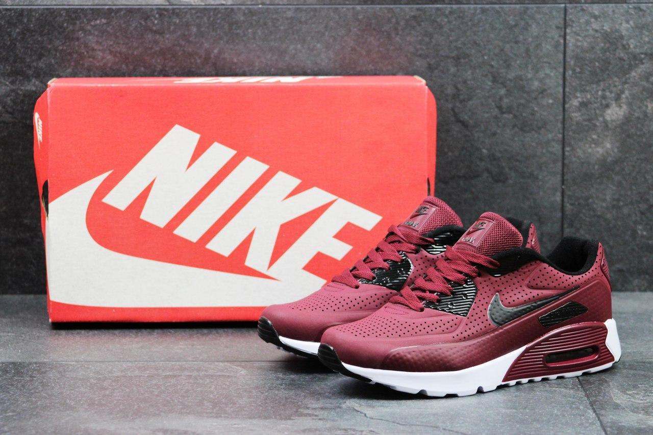 d5491746 Мужские кроссовки Nike Air Max 1 Ultra Moire, бордовые (Реплика) - Интернет-