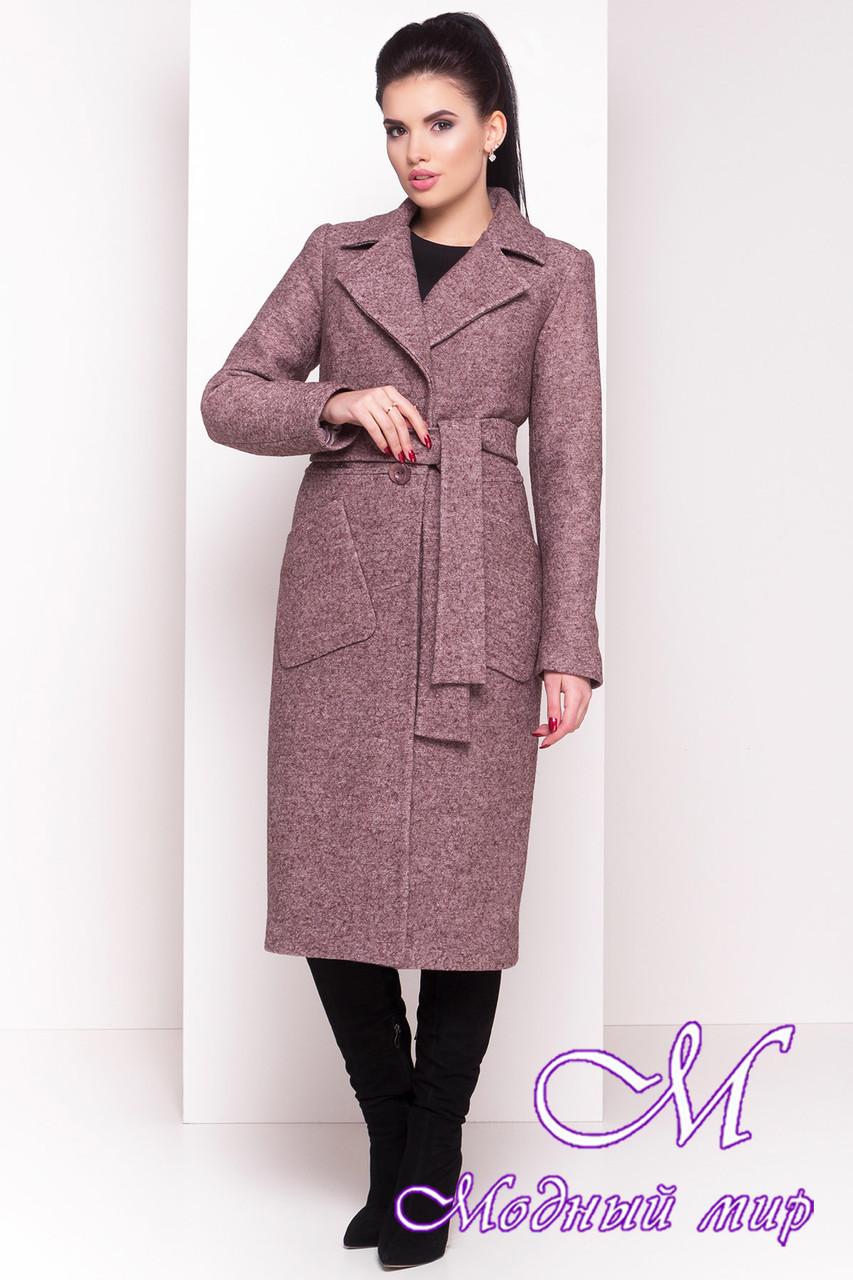 Длинное классическое женское зимнее пальто (р. S, М, L) арт. Габриэлла 4363 - 21006