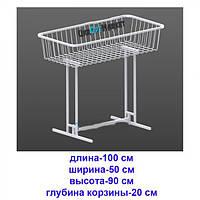 """Распродажная корзина 50 х 100 см белая """"Torg"""" ZZ-0050, фото 1"""