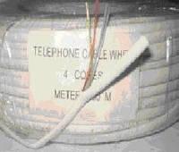 Кабель телефонный 4ж бел. VECTOR 100м