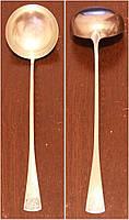 Половник серебряный 800 пробы (235 грамм) столовое серебро, сохран