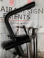 Комбинированный смеситель для кухни HAIBA HANS 021 ( черный)