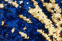 Паеточная ткань синее золото