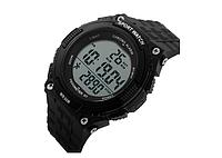 Часы водонепроницаемые спортивные с шагомером Skmei Black BOX 1112