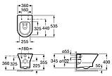 Унитаз подвесной Roca Nexo A34H648000 с крышкой Soft Close, фото 2