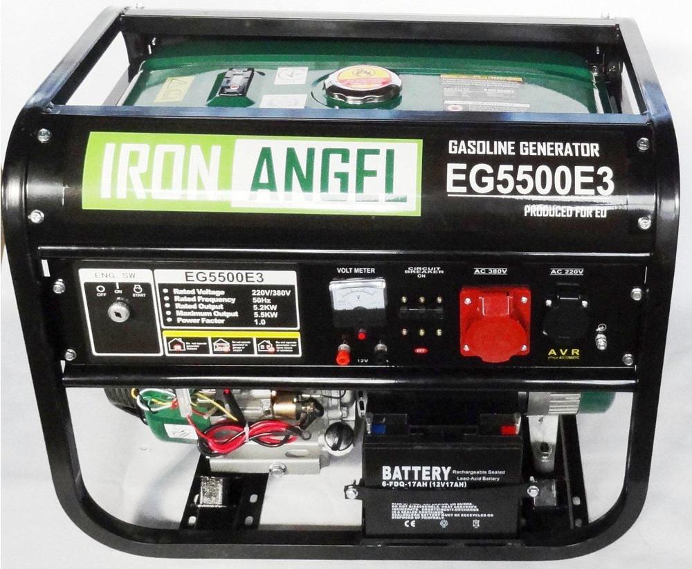 Генератор бензиновый Iron Angel EG 5500 E3 (5,5кВт)