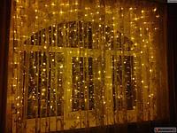 Гирлянда штора 3х2 м, 320 led, золотой цвет, фото 1