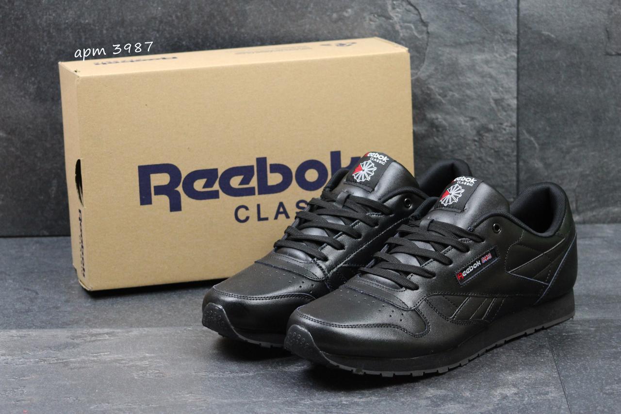 8d7aba140292 Мужские кроссовки Reebok Classic черные кожаные 47-50 гиганты ( Реплика  ААА+)