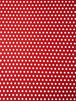 Подарочная бумага (упаковочная)  красного цвета в белый горошек