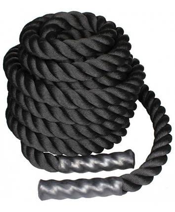Канат для кроссфита 6 м BATTLE ROPE LS3676-6 black, фото 2