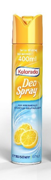Освіжувач Kolorado Deo Spray 400мл лимон