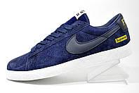 Повседневные кроссовки Nike Supreme SB Blazer FTW, мужские (Dark Blue)