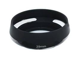 Бленда вентилируемая 39мм, металл, Leica, черная