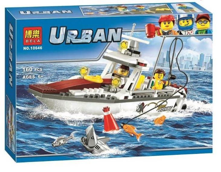 Конструктор Bela City 10646 Рыболовный катер 160 дет