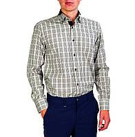 Мужская рубашка классическая PALMEN в черно-белую клетку, фото 1
