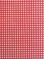 Подарочная бумага (упаковочная)  красного цвета в белую клетку