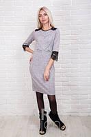 Платье женское трикотаж вязка с гипюром р.44-48 AR84140-1
