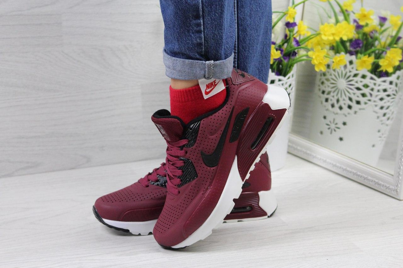 Кроссовки Nike Ultra Moire женские (бордовые), ТОП-реплика