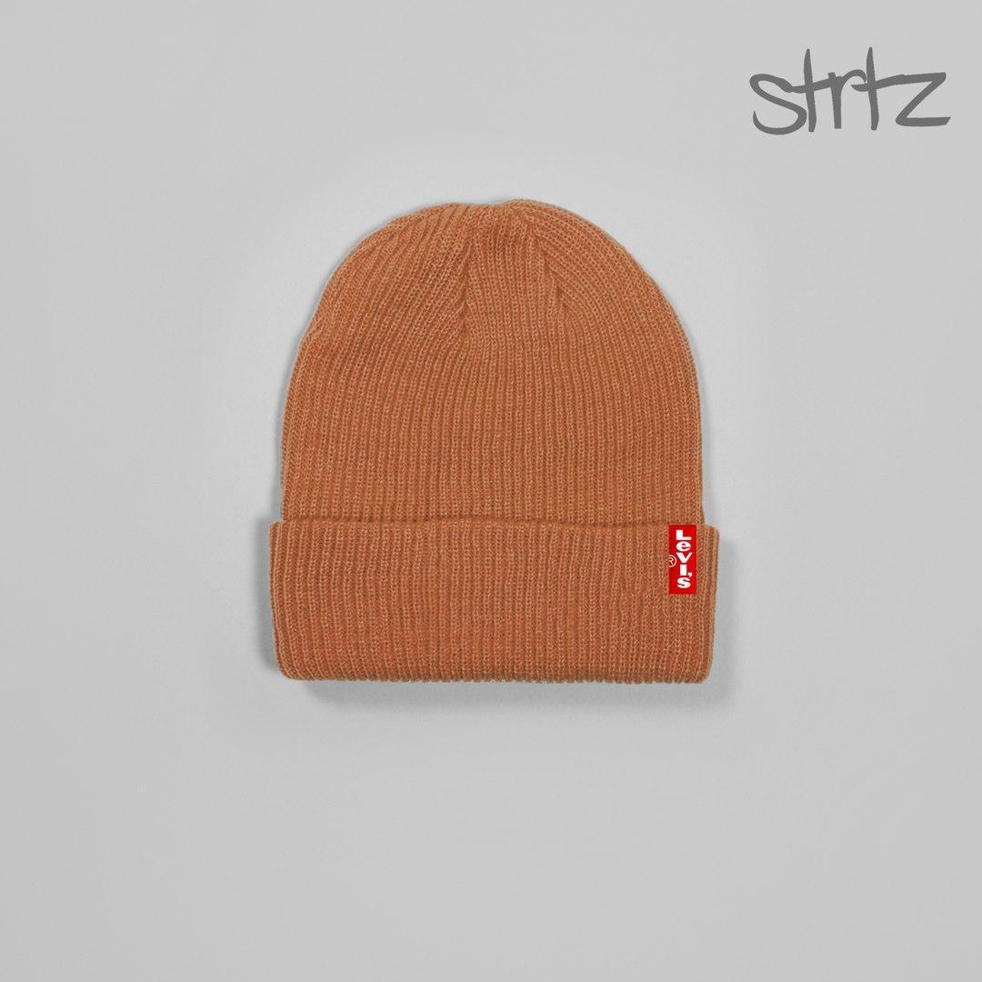 Зимова чоловіча шапка левайс, шапка levi's