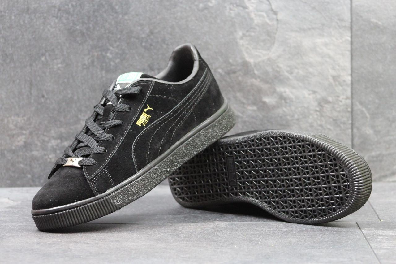 12bdb0374fcb Puma Suede мужские кроссовки черные замшевые (Реплика ААА+) - bonny-style в