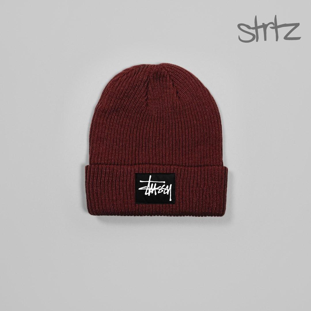 Зимова чоловіча шапка стейсі, шапка Stussy
