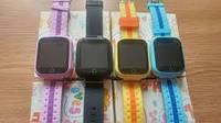 """Оригинальные детские часы с GPS трекером Q750, экран 1,54"""", игра."""