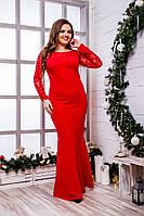 Женское вечернее платье в пол №159-8070 БАТАЛ