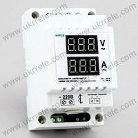 Цифровой вольтметр амперметр (вольтамперметр) переменного тока на DIN-рейку (100А, 100-400В)