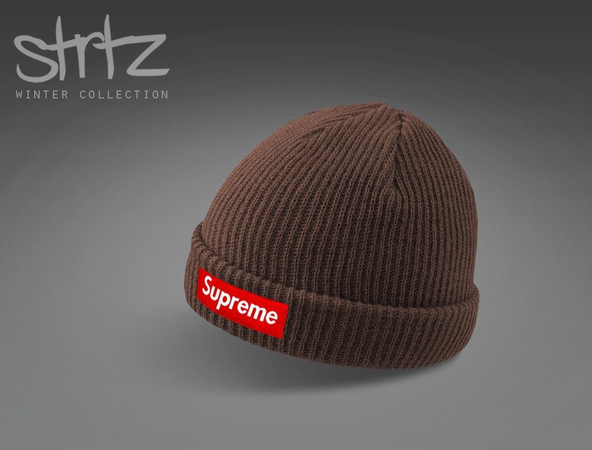 0019906729a0 Молодёжная мужская шапка суприм, шапка Supreme - Bigl.ua