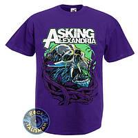 Футболка ASKING ALEXANDRIA - Night Smile темно-фиолетовый
